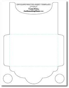 Envelope Writing Sheets: Free Images! | Just Something I Made