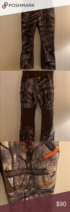 6b99a9d1c9dc4 Men's under armour hunting pants EUC Under Armour Men's fleece lined  hunting pants. These are