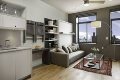 Откидные встроенные подъемные кровати с диваном