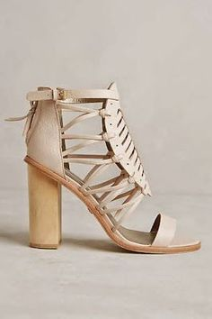 Cynthia vincent sandals > leather heels Love these block-heeled ankle strap beauties!