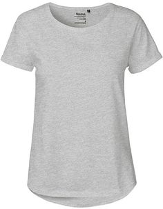 3e97ceaac12034 Damen Roll Up Sleeve T-Shirt von Neutral Bio Baumwolle Rollärmel