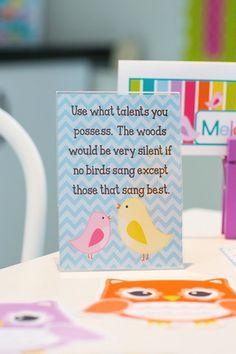 Bright Birds Classroom Prints