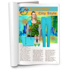 Summer City Style by elena-indolfi on Polyvore featuring #OArtTee Peacock Feathers Shirt