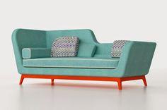 Marzua: Jeremie, un sofá cama de diseño con aires art-deco, diseñado por Eric Berthes para Milano Bedding