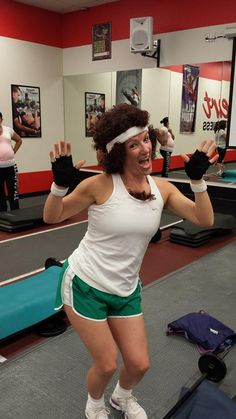 My Richard Simmons costume for Halloween.