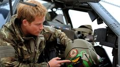 Pictures of Prince Harry during his army career *fans self*