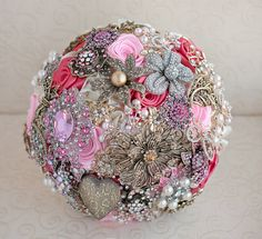 Brooch bouquet. Deposit on a Purple White and by MagnoliaHandmade