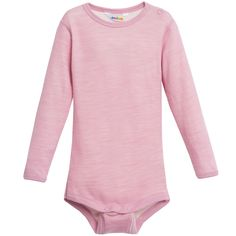 JOHA Pink Wool & Bamboo Thermal Baby Bodyvest
