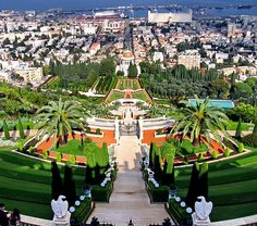 High on my list of places to go. I can't wait to go on pilgrimage to the Baha'i World Centre in Israel.