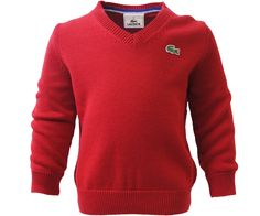 419a9bb7905e Lacoste V-Neck Knit Cosmique Red - Terraces Menswear