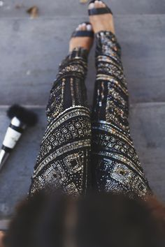 Sequin Embellished Pants for New Year's Eve! - Haute Off The Rack // Powered by chloédigital #TisTheSeasonToSparkle...x