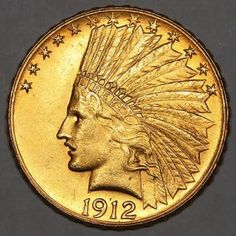 10 Indian Head Eagle Coin - The 10 Indian Head Eagle Coin, also know as the $10 Eagle, minted from 1907 to 1933, is considered to be one of the most beautiful American gold coins produced by the U.S. Mint.