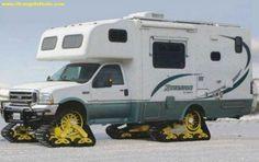 Caravane sur la neige, insolite ! #caravane #neige #insolite chainesbox.com