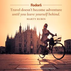 When does travel become an adventure for you?