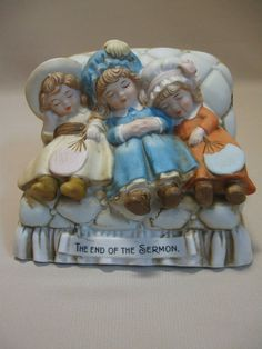 Porcelain Figurine Statue Girls On Couch The End Of The Sermon