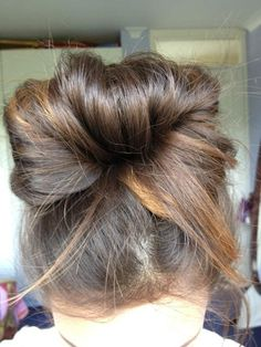 messy bun, this is my hairstyle 95% of the time.. So true