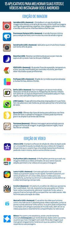 ferramentas para edição de imagens e vídeos
