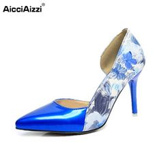 18.98$  Watch here - http://aliu9v.shopchina.info/go.php?t=32798300276 - Lady High Heel Shoes Women Print Patchwork Thin Heels Pumps Pointed Toe Sexy Party Vacation Leisure Female Footwears Size 35-39  #bestbuy