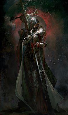 """spassundspiele: """"Hommage – Dark Souls 3 fan art by mook eun """" Dark Fantasy, Fantasy Rpg, Medieval Fantasy, Fantasy Artwork, Fantasy Images, Fantasy Heroes, Fantasy Fiction, Art Dark Souls, Character Concept"""
