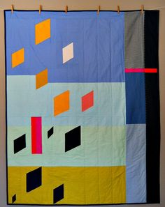 Modern Quilt Geometric December by rainandtheriver on Etsy