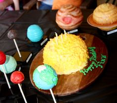 Solar system of cakes for space-themed party