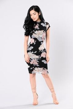 Make You Fall In Love Dress - Black