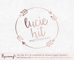 Watercolour Logo Arrow Logo Heart Logo Photography Logo by karnoug