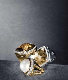 David Yurman Gold Pearl Ring