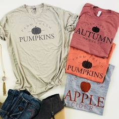 Women's Clothing and Apparel. Shop the hottest trends in women's clothing at a fraction of the typical price. Dress yourself in today's deals while they last. Vinyl Shirts, Tee Shirts, Autumn T Shirts, Diy Shirt, Personalized T Shirts, Custom T, Custom Items, Fall Outfits, Autumn Fashion