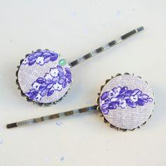Lavender hai pins  les barrettes fleur de lavande qui sentent bon la Provence