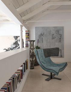 Leather armchair with 4-spoke base ROXY | @arketipofirenze