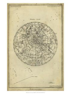 Antique Astronomy Chart I Art Print by Daniel Diderot at Art.com
