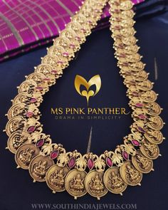 Elegant antique lakshmi kasu haram. For inquiries, please contact the seller below. Seller Name : Ms Pink Panther Facebook : https://www.facebook.com/MISSPINKPANTHERJEWELLERY/ Contact : +91 95855 95689 Instagram : https://www.instagram.com/mspinkpantherjewel/ Website : http://www.mspinkpanther.com/ Related PostsGold Plated Long Lakshmi Necklace with JhumkaLong Ruby Emerald Haram With EarringsPure Silver Gold Plated Temple HaramGold Plated...