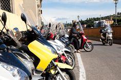 Florentinos en motocicleta