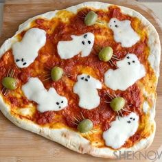 A recipe for Spooky Ghost Pizza that kids (and let's admit it, adults too) are sure to love. (via Bon Appetit)