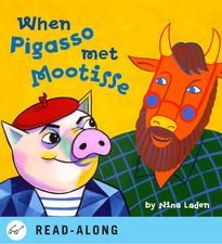 """""""When Pigasso Met Mootisse"""" - Nina Laden's wacky illustrations complement this funny story that not only introduces children to two of the world's most extraordinary modern artists, but teaches a very important lesson—how to creatively resolve a conflict—in a most unusual way! Love this book! #teachingart #ad #childrensbook #conflictresolution #picasso #matisse"""