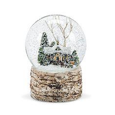 Abbott Collection Church & Tree Snow Globe