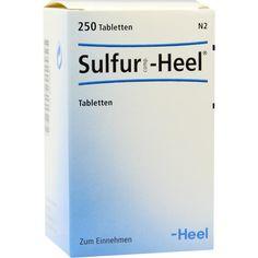 SULFUR COMP.Heel Tabletten:   Packungsinhalt: 250 St Tabletten PZN: 08818987 Hersteller: Biologische Heilmittel Heel GmbH Preis: 20,76…
