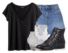 """""""40.1"""" by mallorimae ❤ liked on Polyvore featuring T By Alexander Wang, H&M, Nanette Lepore, Rebecca Minkoff and Larsson & Jennings"""