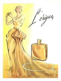 L`Origan Coty perfume - a fragrance for women 1905 Retro Advertising, Vintage Advertisements, Vintage Ads, French Vintage, Vintage Posters, Vintage Dresses, Anuncio Perfume, Perfume Vintage, Perfume Glamour