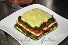 """Más allá del gluten...: Lasaña """"Viva"""" Baja en Grasa (Receta SCD, GFCFSF, Vegana, RAW)"""