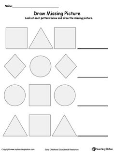 complete the pattern patterns worksheets preschool worksheets pattern worksheets for. Black Bedroom Furniture Sets. Home Design Ideas
