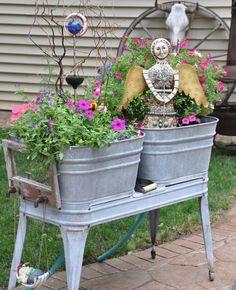 93 Best Old Washtub Ideas Images Vegetable Garden Flowers Good Ideas