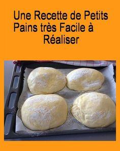 Une #recette de petits #pains très #facile à #réaliser Food And Drink, Bread, Cooking, Breakfast, Baguettes, Beignets, Kitchenaid, Communion, Robot