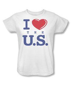 Look at this #zulilyfind! White 'I Love The US' Tee - Women #zulilyfinds