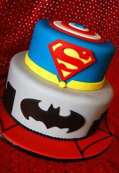 Bilderesultat for superhero cake Superhero Cake, Superhero Birthday Party, 4th Birthday Parties, Boy Birthday, Birthday Cakes, Birthday Ideas, Pastel Marvel, Marvel Cake, Batman Cakes