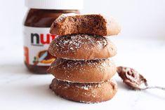 Nutella koekjes met 3 ingrediënten - Annabella's Foodblog Nutella Lava Cake, Nutella Snacks, Nutella Brownies, Nutella Recipes, No Bake Cookies, No Bake Cake, Tapas, Lava Cakes, Quick Snacks