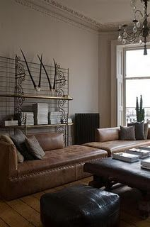 soothe leather club chairs rustic luxe settee daybed showroom living spaces