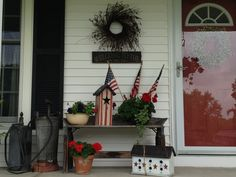 country porch done in Americana