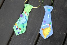 We actually made these in Children's Church last year, using foam paper for the ties themselves. :) Kids LOVED them!